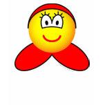 Little red riding hood emoticon   womens_apparel_tshirt