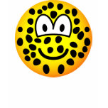 Leopard emoticon   womens_apparel_tshirt