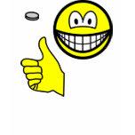 Coin flip smile   womens_apparel_tshirt
