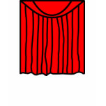 Theater smile stage curtains closed  womens_apparel_tshirt