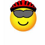 Biker emoticon glasses  womens_apparel_tshirt