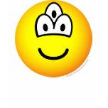 Drieoogige emoticon   womens_apparel_tshirt