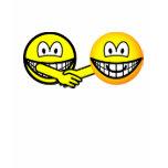 Hands shaking smilies   womens_apparel_tshirt
