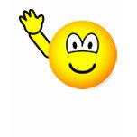 Bye emoticon waving  womens_apparel_tshirt