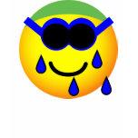 Swimming emoticon   womens_apparel_tshirt