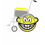 Wheelchair buddy icon Side view  womens_apparel_tshirt