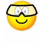 Safety goggles emoticon   womens_apparel_tshirt