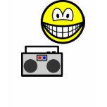Boom box radio smile   womens_apparel_tshirt
