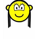Black haired buddy icon   womens_apparel_tshirt
