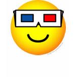 3D glasses emoticon   womens_apparel_tshirt
