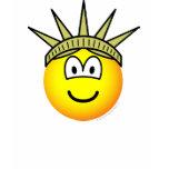 Emoticon of liberty   womens_apparel_tshirt