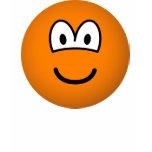 Colored emoticon orange  womens_apparel_tshirt