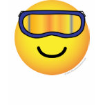 Skier emoticon (it's colder)  womens_apparel_tshirt