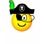 Pirate with parrot emoticon   womens_apparel_tshirt