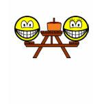 Picnic table smile   womens_apparel_tshirt