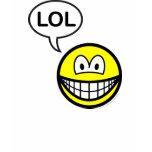 LOL smile  laugh(ing) out loud womens_apparel_tshirt