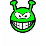Green alien smile   womens_apparel_tshirt