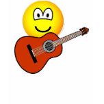 Acoustic guitar emoticon   womens_apparel_tshirt
