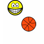 Basketball playing smile   womens_apparel_tshirt