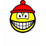 Bobble hat smile   womens_apparel_tshirt
