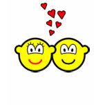 Two Buddy icons in love   womens_apparel_tshirt