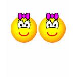 Identical twins emoticon Girls  womens_apparel_tshirt