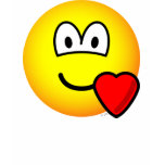 Love heart emoticon   womens_apparel_tshirt