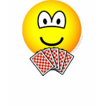 Card playing emoticon   womens_apparel_tshirt
