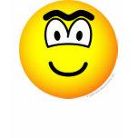 Unibrow emoticon   womens_apparel_tshirt