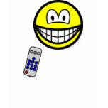 Tv remote smile   womens_apparel_tshirt