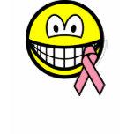 Breast cancer awareness smile Pink ribbon  womens_apparel_tshirt