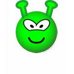Green alien emoticon   womens_apparel_tshirt