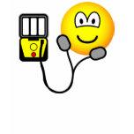 Heart defibrillator emoticon   womens_apparel_tshirt