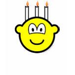 Birthday cake buddy icon Three candles  womens_apparel_tshirt
