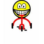 Tricycle smile Riding  womens_apparel_tshirt