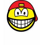 Backward cap smile   womens_apparel_tshirt