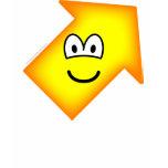 Up right emoticon arrow  womens_apparel_tshirt