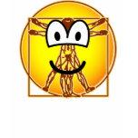Vitruvian Man emoticon Da vinci  womens_apparel_tshirt