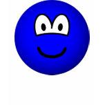 Colored emoticon blue  womens_apparel_tshirt