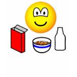 Breakfast emoticon cereal  womens_apparel_tshirt