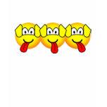 Three headed dog emoticon Harry Potter  womens_apparel_tshirt