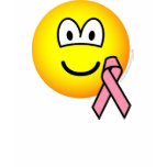 Breast cancer awareness emoticon Pink ribbon  womens_apparel_tshirt