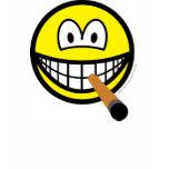 Cigar smile   womens_apparel_tshirt
