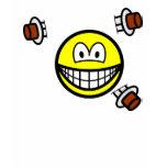 Knife thrower smile   womens_apparel_tshirt