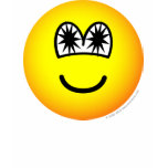 Star eyed emoticon   womens_apparel_tshirt
