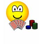 Poker emoticon   womens_apparel_tshirt