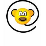 Web monkey emoticon   womens_apparel_tshirt