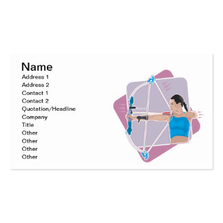 Womens Archery Double-Sided Standard Business Cards (Pack Of 100)