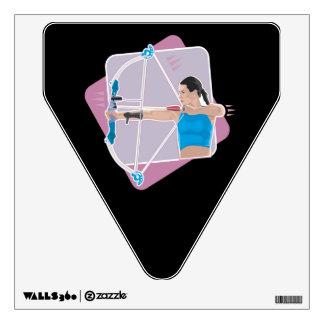 Womens Archery Wall Sticker