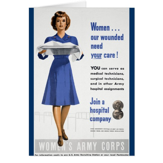 Womens Army Corps Card